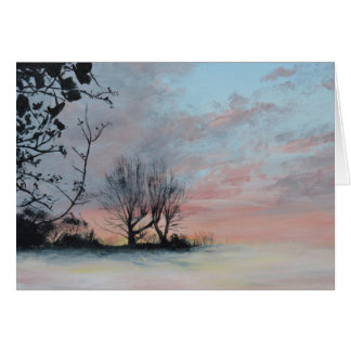 Wintery Sunrise Card