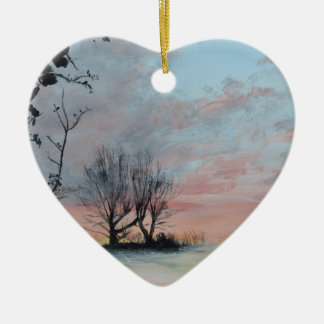 Wintery Sunrise Christmas Ornament