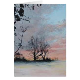 Wintery Sunrise Greeting Card