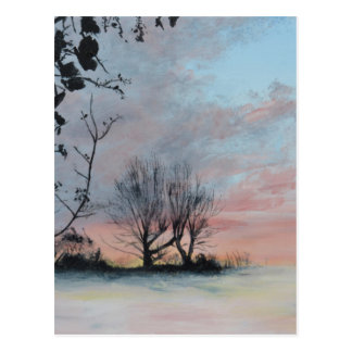 Wintery Sunrise Postcard