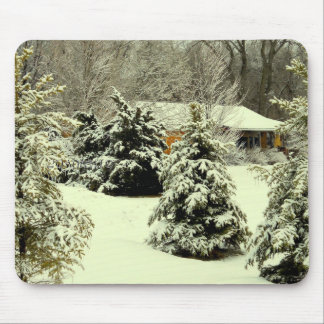 Wintery Warmth seasonal series Mouse Pad