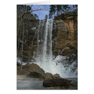 Wintery Waterfall Note Card