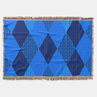 Wintry-Blue-Quilt-Love Throw Blanket