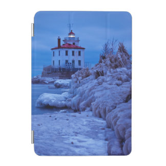 Wintry, Icy Night At Fairport Harbor Lighthouse iPad Mini Cover