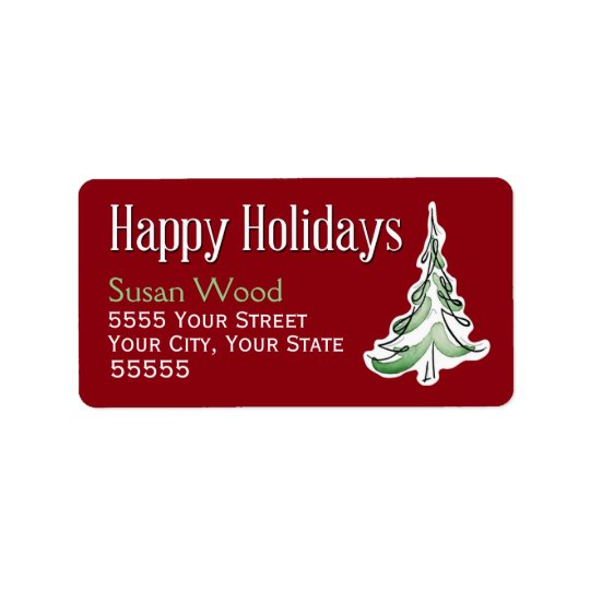 Wintry Pine Holiday Address Labels