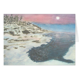 Wintry Sunset in Grand Portage Card