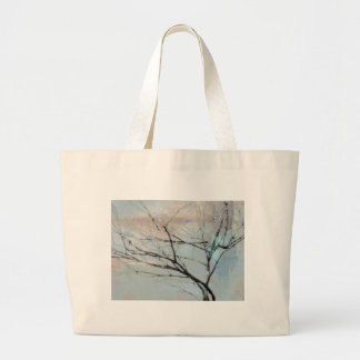 Wintry Tree Form Jumbo Tote Bag