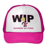 WIP (Women In Pink)  Thinking Cap Mesh Hat