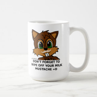 Wipe off your milk mustache coffee mug