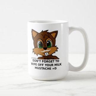 Wipe off your milk mustache coffee mug