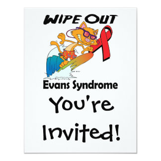 Wipe Out Evans Syndrome 4.25x5.5 Paper Invitation Card