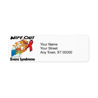 Wipe Out Evans Syndrome Return Address Label