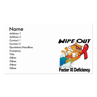 Wipe Out Factor XI Deficiency Pack Of Standard Business Cards