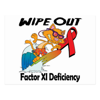 Wipe Out Factor XI Deficiency Post Card