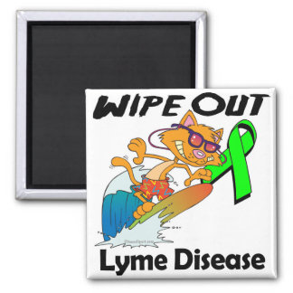 Wipe Out Lyme Disease Square Magnet