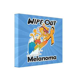 Wipe Out Melanoma Stretched Canvas Prints