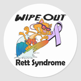 Wipe Out Rett Syndrome Classic Round Sticker