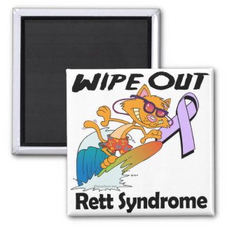 Wipe Out Rett Syndrome Square Magnet