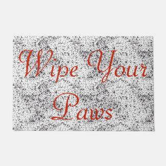 Wipe Your Paws Dalmatian Print Doormat