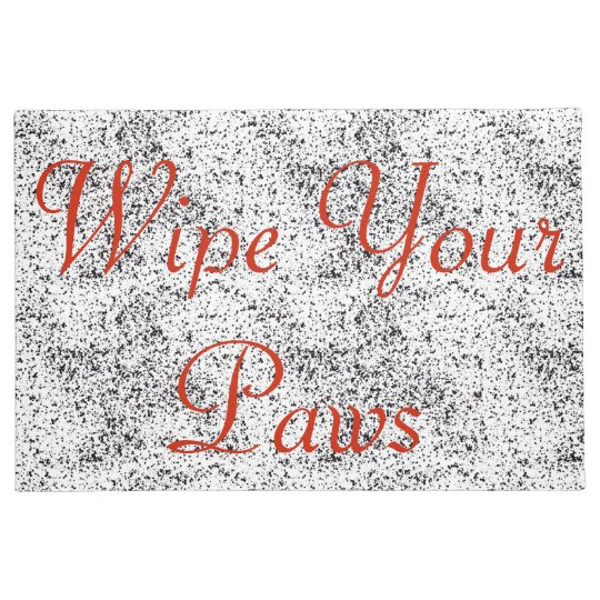 Wipe Your Paws Dalmatian Print Doormat