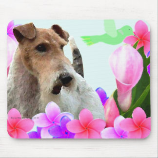 Wire Fox Terrier and Flowers Mouse Mat