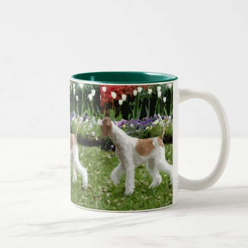 Wire Fox Terrier and Flowers Coffee Mugs