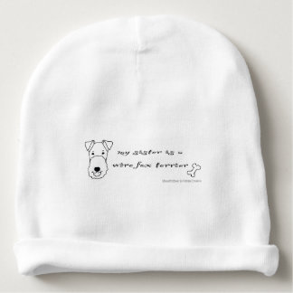 wire fox terrier baby beanie