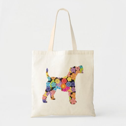 Wire Fox Terrier Tote Bags