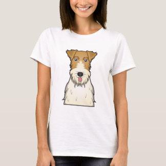 Wire Fox Terrier Cartoon T-Shirt