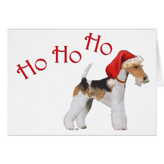 Wire Fox Terrier Christmas Greeting Card