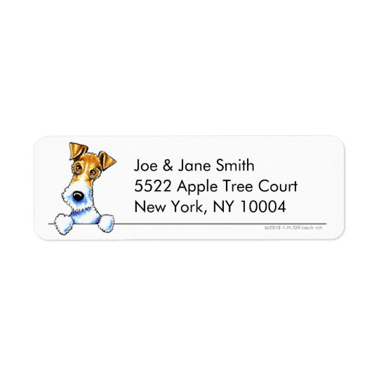 Wire Fox Terrier Clean & Simple Return Address Label