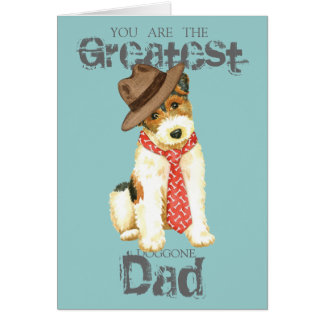 Wire Fox Terrier Dad Card