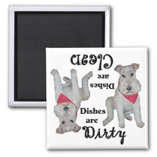 Wire Fox Terrier Dishwasher Magnet