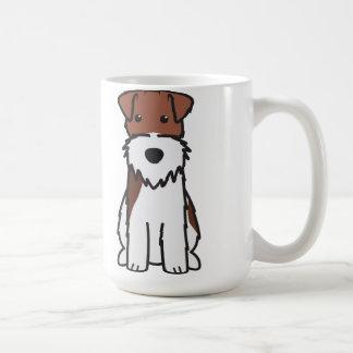 Wire Fox Terrier Dog Cartoon Basic White Mug