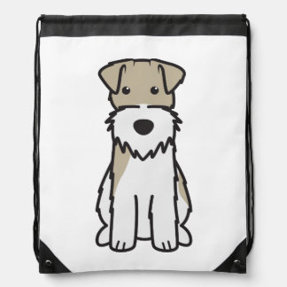 Wire Fox Terrier Dog Cartoon Drawstring Bag