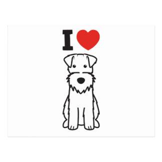 Wire Fox Terrier Dog Cartoon Postcard