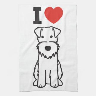 Wire Fox Terrier Dog Cartoon Tea Towel