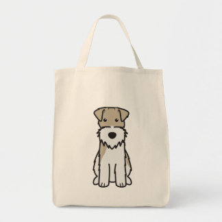 Wire Fox Terrier Dog Cartoon Tote Bag