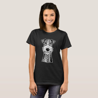 Wire Fox Terrier Face Graphic Art T-Shirt