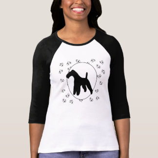 Wire Fox Terrier Hearts and Pawprints T Shirts