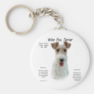 Wire Fox Terrier History Design Key Chain