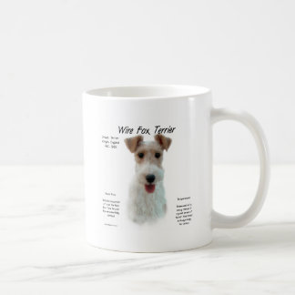 Wire Fox Terrier History Design Coffee Mugs