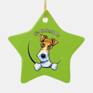 Wire Fox Terrier IAAM Ceramic Star Decoration