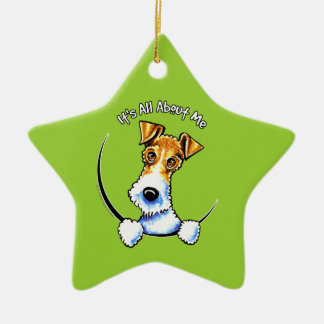 Wire Fox Terrier IAAM Christmas Ornament