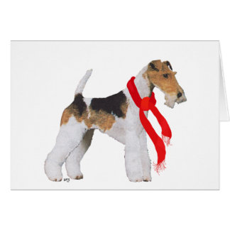 Wire Fox Terrier in a Scarf Card