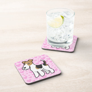 Wire Fox Terrier Love Beverage Coasters