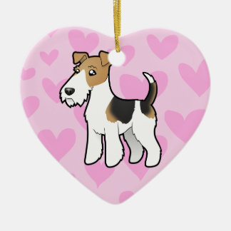 Wire Fox Terrier Love Christmas Ornament