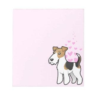 Wire Fox Terrier Love Notepad
