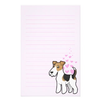 Wire Fox Terrier Love Stationery