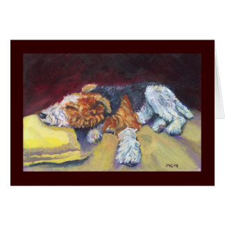 Wire Fox Terrier Nap Card